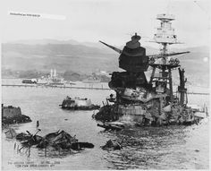 USS Arizona (BB39), 10 December 1941. View from ahead looking aft.