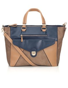 Colour Block Elinor Tote | Multi | Accessorize