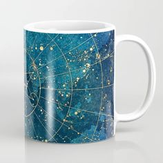 Buy Star Map :: City Lights Coffee Mug by jenny lloyd pictures. Worldwide shipping available at Society6.com. Just one of millions of high quality products available. Unique Coffee Mugs, City Maps, Mug Shots, Funny Mugs, City Lights, Tea Mugs, Decoration, Constellations, Coffee Cups