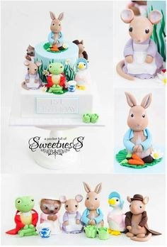 Peter Rabbit Cake Topper Figures