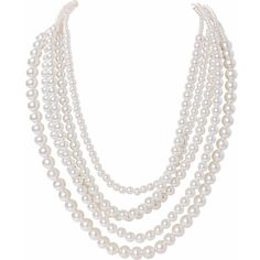 Humble Chic NY Multistrand Simulated Pearls (460.630 IDR) ❤ liked on Polyvore featuring jewelry, necklaces, pearl white, fake pearl jewelry, white necklaces, faux pearl necklace, faux pearl jewelry and faux pearl statement necklace