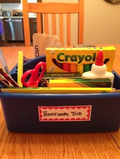 This Busy Mom's Musings - Homework Tub