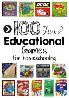 Homeschooling is funschooling when you open the game closet!