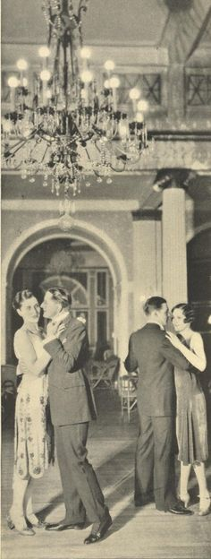 Romance has always been in style...love this photo of the Crystal Room from 1928!