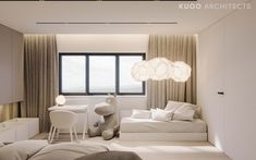 A super swanky interior awaits us in this ritzy home near London, UK, visualised by Polish firm KUOO Architects. The enormous project is filled wall to wall wit