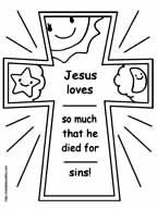 Easter Cross Coloring Page Fill In Blanks With Name And