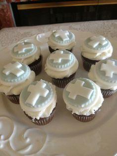 ben's baptism, #baptism #cupcakes #babyboy