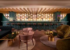A journey of discovery of the unknown, Dandelyan bar in London offers a menu filled with unexpected and unique cocktails. Located in Mondrian Hotel, it is the perfect combination of glamorous and innovative - a great way to round off a trip to London! Architecture Restaurant, Restaurant Design, Mondrian, Cocktail Bar Interior, Cocktail Bar Design, Cocktail Menu, Menu Bar, Night Bar, Bar Interior Design
