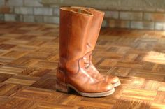 vintage frye boots / brown leather campus boots / size 9.5