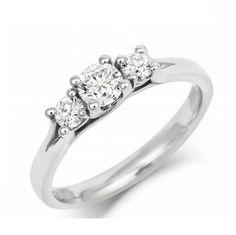 Twist Setting Diamond Trilogy - CRED Jewellery - Fairtrade Jewellery