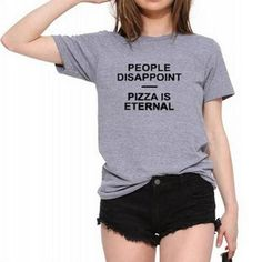 Street Style Disappoint People Letter T-shirt