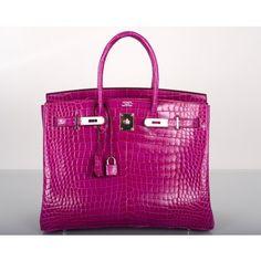 Gorgeous Rose Crocodile Hermes Birkin bag...I want it!