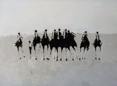 """All Horses"" • Geoffrey Johnson {oil painting on panel}"