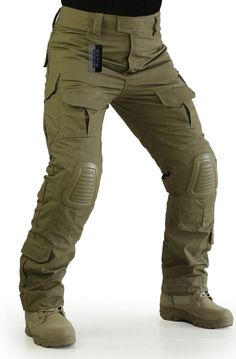 ZAPT Tactical Pants with Knee Pads Airsoft Camping Hiking Hunting BDU Ripstop Combat Pants 13 Kinds Army Camo Uniform Military Trousers (Coyote Brown Mens Tactical Pants, Tactical Wear, Tactical Clothing, Combat Pants, Army Camo, Camo Pants, Trouser Pants, Mens Clothing Styles, Look Fashion