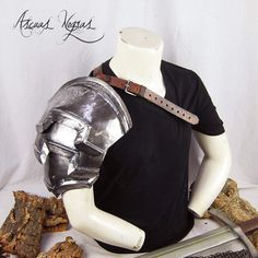 Steel shoulder armor. Shoulder Armor, Armors, Larp, Fashion Backpack, Cosplay, Backpacks, Steel, Etsy, Medieval Fantasy