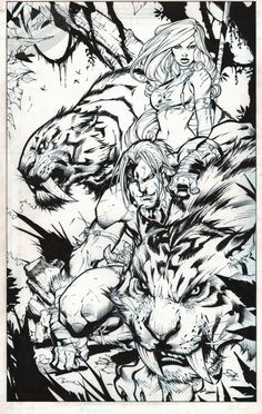Shanna and Ka-Zar by Joe Madureira