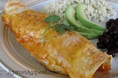 Apron Appeal: The Big Chicken Avocado Ranch Enchilada