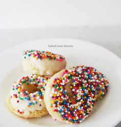 Baked mini donuts (using cake mix in a mini donut baking pan) - fun to make with kids