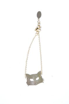 Brass Fox Mask Bracelet // ANIMAL MASKS WHY DIDN'T I THINK OF THIS