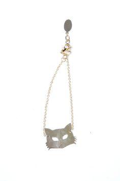 Brass Fox Mask Bracelet