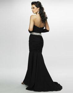 2011 Style  Trumpet / Mermaid Sweetheart  Beading  Sleeveless Floor-length Chiffon Black Prom Dress / Evening Dress