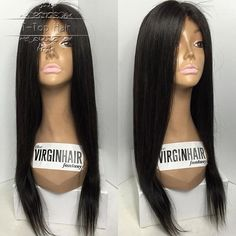 84.00$  Buy here - http://aliufz.worldwells.pw/go.php?t=32545510870 - 7A Quality Brazilian Virgin Hair Lace Front Wig U Part Wigs Silky Straight Glueless Full lace Human Hair Wigs For Black Women 84.00$