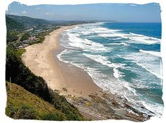 This beach is considered to be one of the most picturesque beaches in South Africa, and consistently . George South Africa, South Africa Beach, South Africa Tours, Africa Map, Africa Travel, Surf, Africa Destinations, Port Elizabeth, Waves