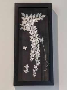 Wisteria Butterfly Art, Flower,Wal Art, Japanese Yuzen Washi Art, Home Decor,Origami Art, Framed Art, Gift, one of a kind, Free Shipping Wal Art, Japanese Origami, Butterfly Art, Origami Paper, Rice Paper, Wisteria, Washi, Paper Art, Framed Art