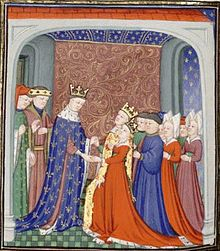 Joan of England (5 July 1321 – 7 September 1362), known as Joan of the Tower because she was born in the Tower of London, was the first wife and Queen consort of David II of Scotland. The youngest daughter of Edward II of England and Isabella of France.  David II was taken prisoner at the Battle of Neville's Cross on 17 October 1346, and remained imprisoned for eleven years. Although Edward III allowed Joan to visit her husband in the Tower of London a few times, she did not become pregnant