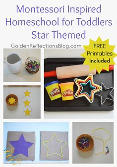 Montessori Homeschool for Toddlers: Star Themed Tot-School Week with Free Printables from Golden Reflections Blog