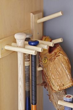 Baseball gear storage