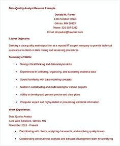 Quality Analyst Resume Clinic Administrator Salon Spa Fitness  Clinic Manager Resume