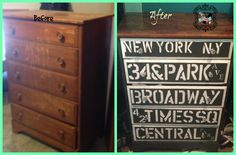 """Transformed Treasures Tuesday no 10. It's a dresser that was just sitting in a corner. I just take one. """"Can't you do something with it?"""" Well yes yes I can"""