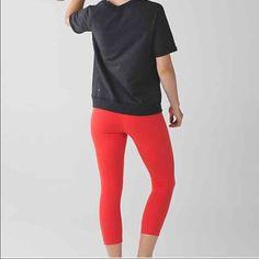 Lululemon Wunder under crop II New. Size 6. Color: alarm. No trades please lululemon athletica Pants Leggings