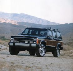 Jeep Wagoneer Limited XJ...wish I'd but mine in storage and had it rebuilt...my sister had one in white....they are awesome!!!