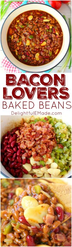 #ad @sugardalefoods The classic baked beans recipe got an awesome upgrade! These Bacon Lovers Baked Beans and loaded with 1 pound of crisp, delicious bacon along with three types of beans, peppers onions and an amazing sauce. Made in the oven or slow cooker, this easy side dish is a must-have for any cookout, pot-luck, tailgate party or picnic!