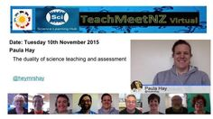 TeachMeetNZ - Hay_Paula Teaching Science, Assessment, Presentation, Learning, Studying, Teaching, Business Valuation, Onderwijs