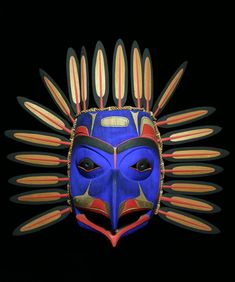 Inuit Gallery of Vancouver - Specializing in Inuit art, Northwest Coast art… Arte Inuit, Inuit Art, Arte Tribal, Tribal Art, Eagle Mask, Native American Masks, Atelier D Art, Art Premier, Native Art