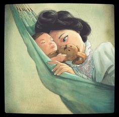 Baby Selfie, Illustrators On Instagram, Book Layout, Jolie Photo, Children's Book Illustration, Book Illustrations, Simple Art, Mother And Child, Best Artist