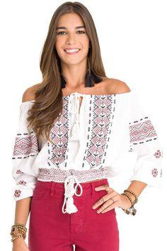 Blusa Cigana Zig Zag Dress To - BabadoTop                                                                                                                                                                                 Mais