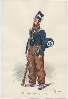 French; 13th Cuirassiers, Dismounted Cuirassier Spain 1812