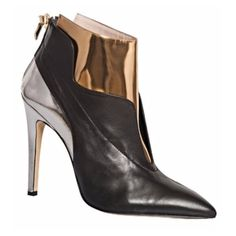 De Siena black and gold ankle boots