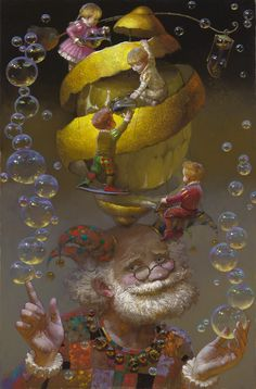 "Victor Nizovtsev ~ Click through the large version for a full-screen view (on a black background in Firefox), set your computer for full-screen. ~ Painter of fables, fantasy and the theatrical. ~ Mik's Pics ""Artsy Fartsy V"" board Art And Illustration, Fantasy Kunst, Fantasy Art, Victor Nizovtsev, Arte Sketchbook, Whimsical Art, Surreal Art, Amazing Art, Illustrators"