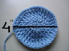 How to make a crochet hat the right size.