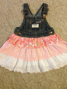 Size 18 Months Oshkosh overall dress Infant Toddler Girl