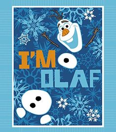 Disney Frozen No Sew Fleece Throw Kit - I'm Olaf ** Details can be found by clicking on the image.
