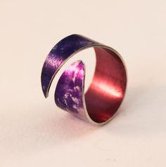 Anodised aluminium Andromeda ring