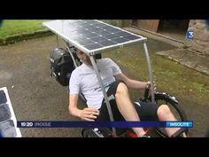▶ Sébastien Quéré et son vélo solaire - YouTube