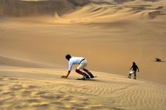 Sand skiing and sandboarding bring the excitement of alpine sports to the world's deserts and dunes.