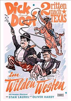 Laurel & Hardy - 'Wild West' (German Poster) - Fantastic A4 Glossy Print Taken From A Vintage Movie Poster by Design Artist http://www.amazon.co.uk/dp/B00LQCFG00/ref=cm_sw_r_pi_dp_0Jxwvb0ZV6SQD